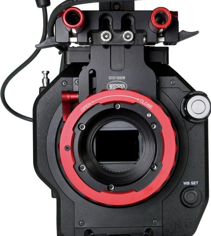 Vocas PL-Adapter an Sony FS7