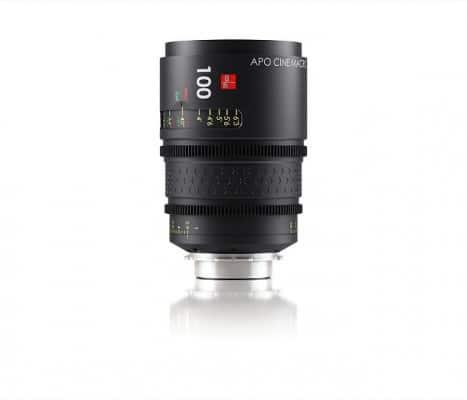 das schwarze Objektiv von IB/E Optics mit 100mm
