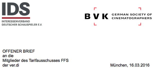 Offener Brief der IDS und BVK