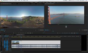 Screenshot Adobe Premiere Pro mit VR Video
