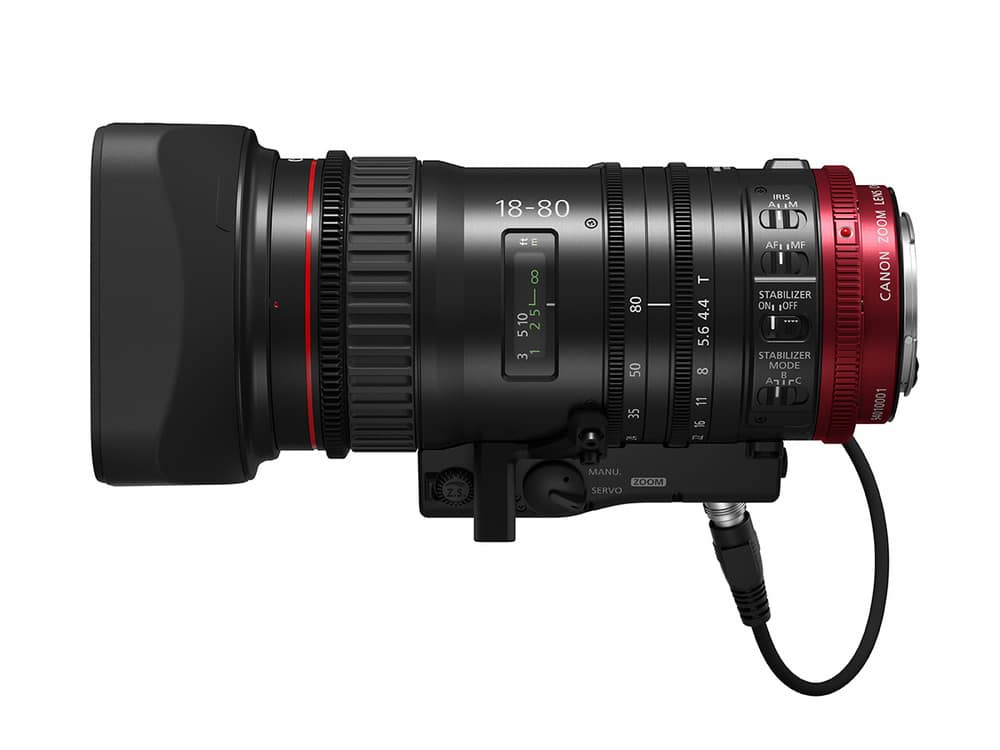 Das Canon CN-E18-80mm T4.4 L IS KAS S Objektiv