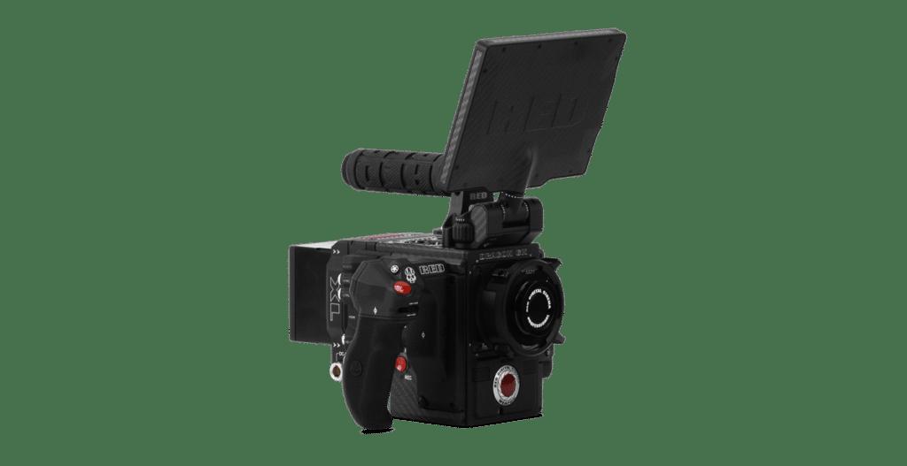 Bild des RED-Multifunktionsgriffes, montiert an einer Kamera