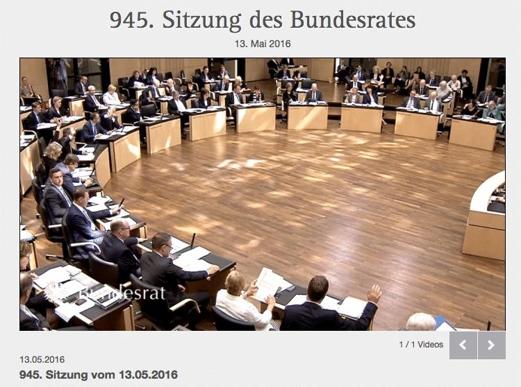 Screenshot Mediathek Deutscher Bundesrat