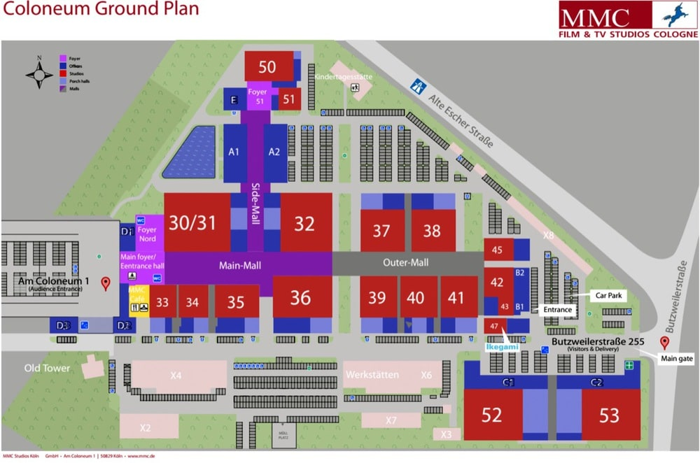 Lage des Open Houses in den Kölner MMC-Studios