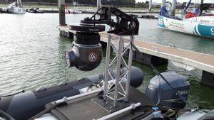Universal K-Mount auf einem Boot