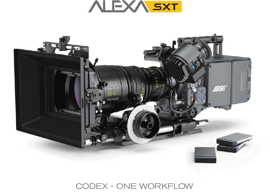 Die ARRI Alexa SXT mit Codex-Laufwerk