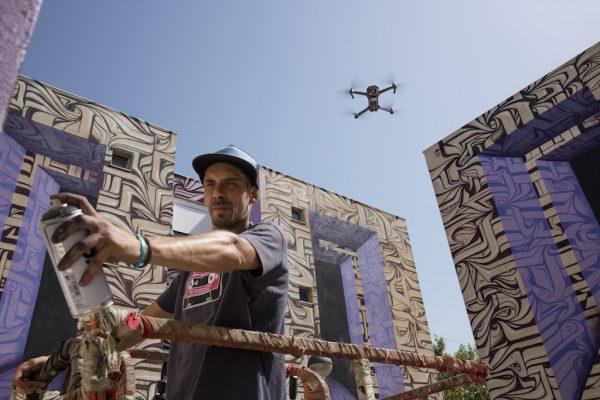Durch die Mavic Pro sehen Street-Art Künstler ihre Kunstwerke aus den verschiedensten Perpektiven