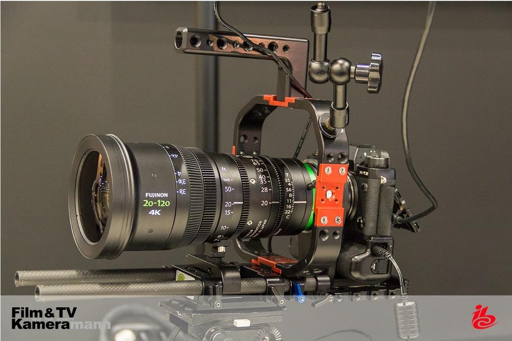 Die Fujinon Cine Lens XK6x20 an der Fujifilm X-T2 auf der IBC