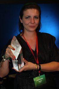 Luise Schröder mit dem Michael-Ballhaus-Preis 2016