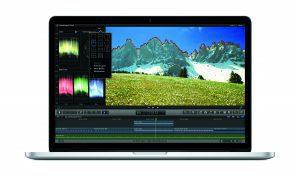 Final Cut Pro X auf einem Macbook Pro