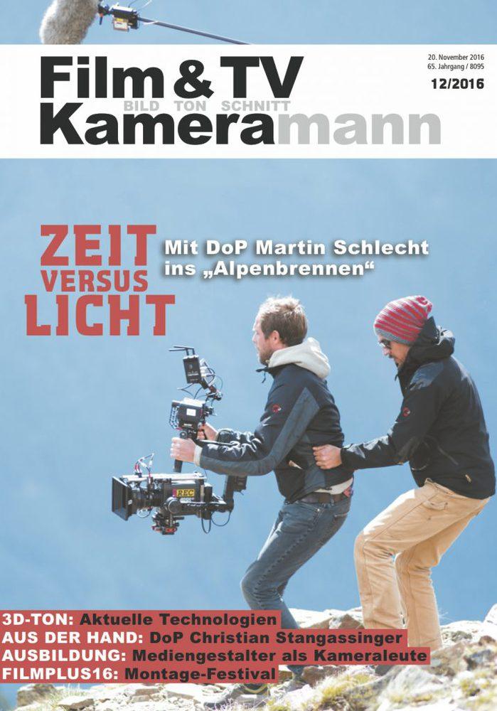 Cover Film & TV Kameramann Ausgabe 12/16