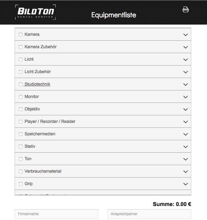 Die Checkliste von BildTon.tv