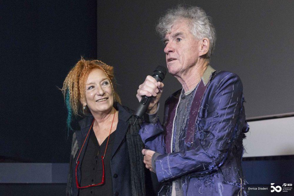 """""""Wir machen Filme wie eine Mutter Essen für ihre Kinder zubereitet"""", sagte Doyle auf der Preisverleihung in Turin. Links neben ihm TFF-Direktorin Emanuela Martini."""