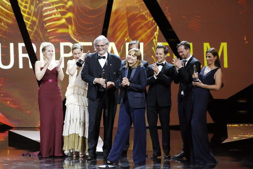 Toni Erdmann Cast 29. Europäischer Filmpreis im National Forum of Music in Breslau am 10.12.2016.