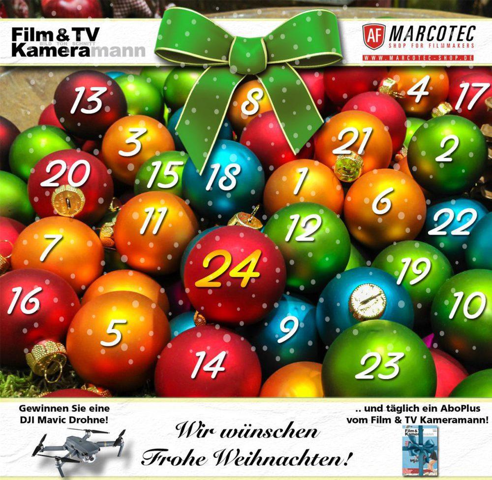 Der Film & TV Kammeramann und AF Marcotec Weihnachtskalender