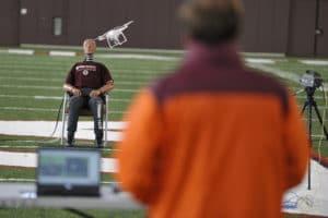 Bei der Erforschung des Risikos von Kopfverletzungen durch Drohnen arbeitet die Mid-Atlantic Aviation mit der Virginia Tech University zusammen.