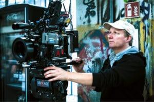 "DoP Bernhard Jasper bei den Dreharbeiten zur Amazon-Serie ""You are Wanted"""