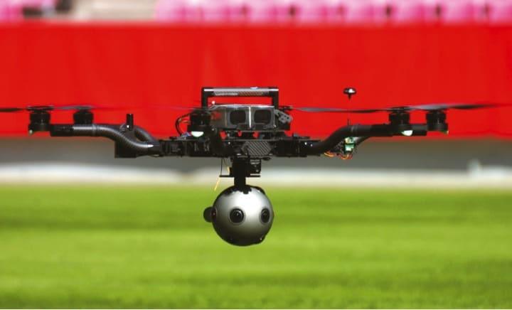 Drohne mit Nokia Ozo-System