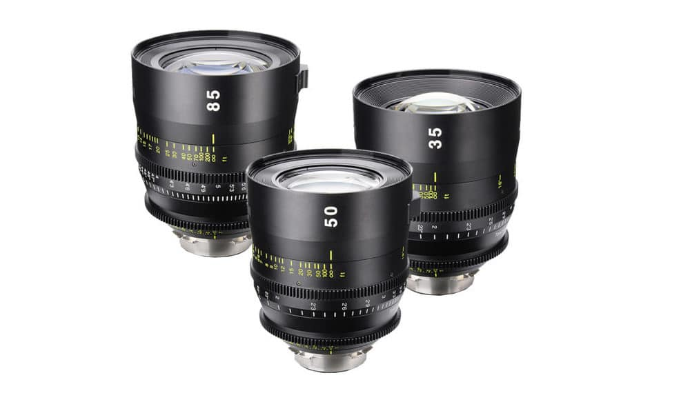 Die neuen Vista Cinema Prime Objektive sind zunächst mit drei verschiedenen Festbrennweiten erhältlich