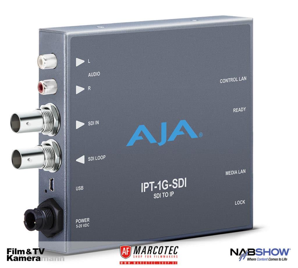 NAB 2017: AJAs IP-Konverter IPT-1G-SDI für SDI.