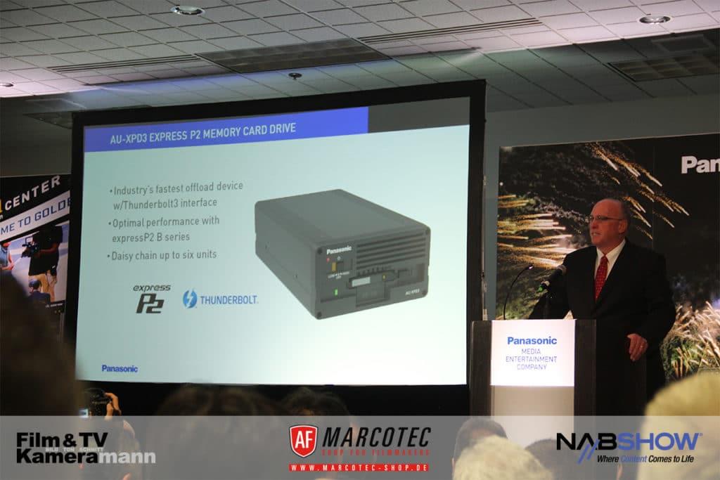 NAB 2017: Das neue Laufwerk von Panasonic wurde schon auf der IBC angeteasert.