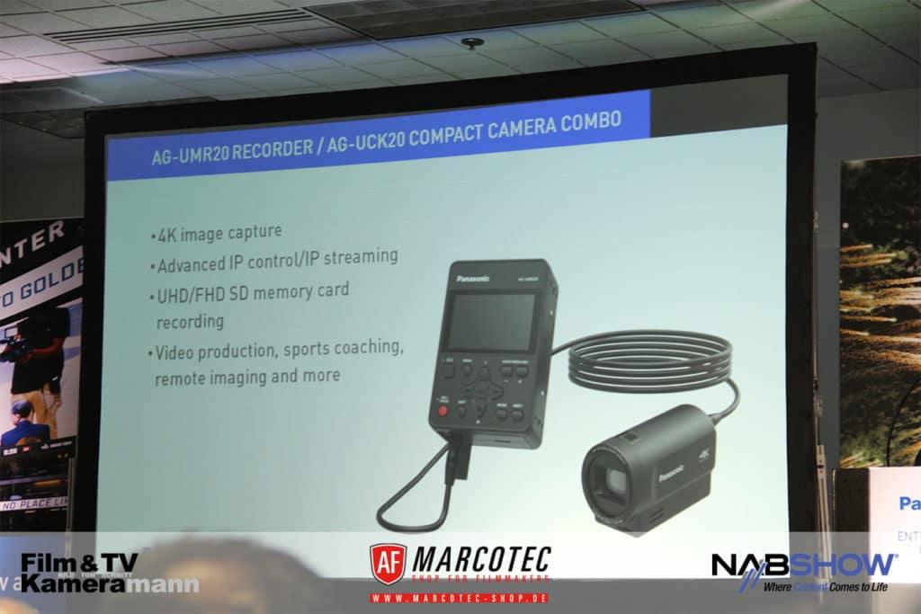 NAB 2017: Neu sind die Panasonic Recorder AG-UMR20 und die Kamera AG-UCK20.