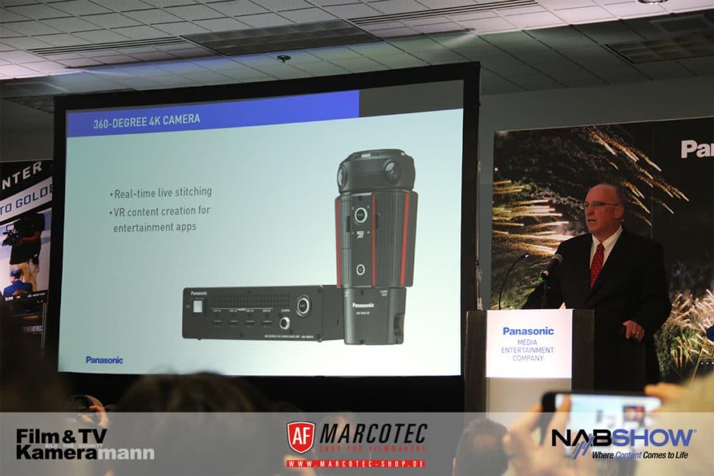 NAB 2017: Panasonics kleine 360-Grad-Kamera mit Basisstation.
