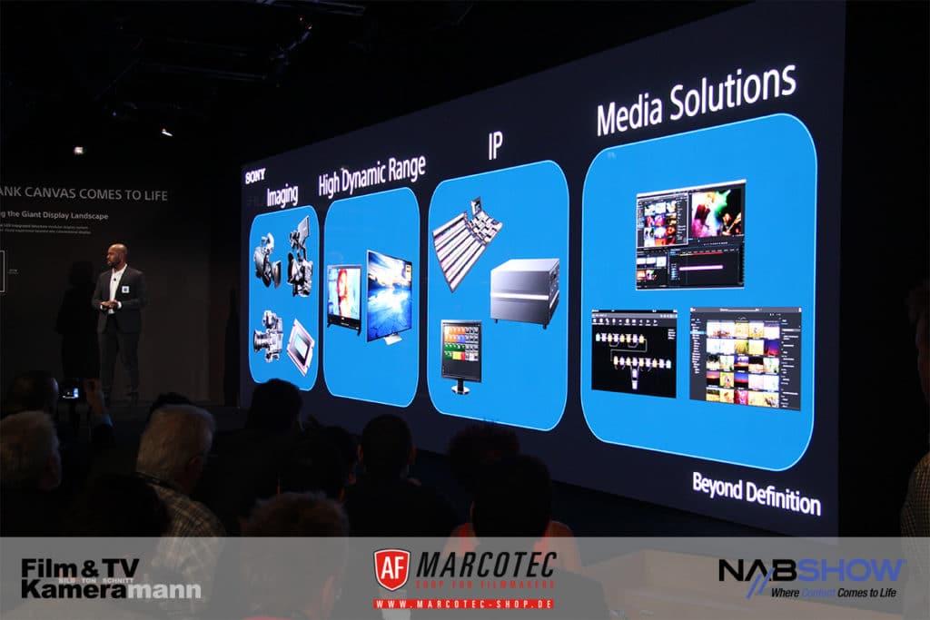 NAB 2017: Auch bei Sony ist IP ein zentrales Thema.