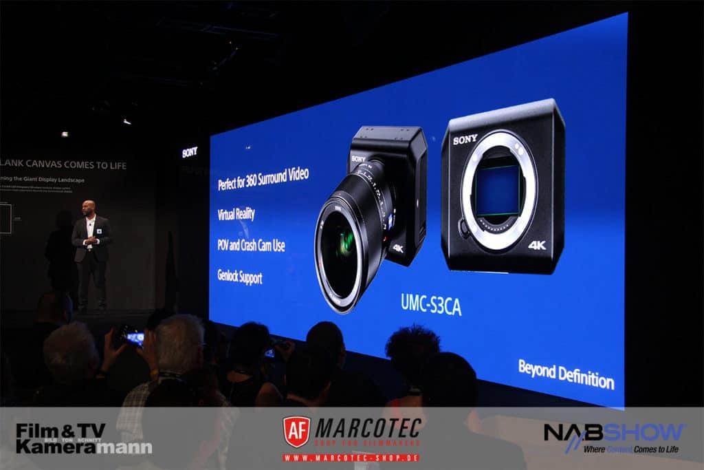 NAB 2017: Vorstellung der Sony UMC-S3CA Minikamera mit 4K und Genlock.