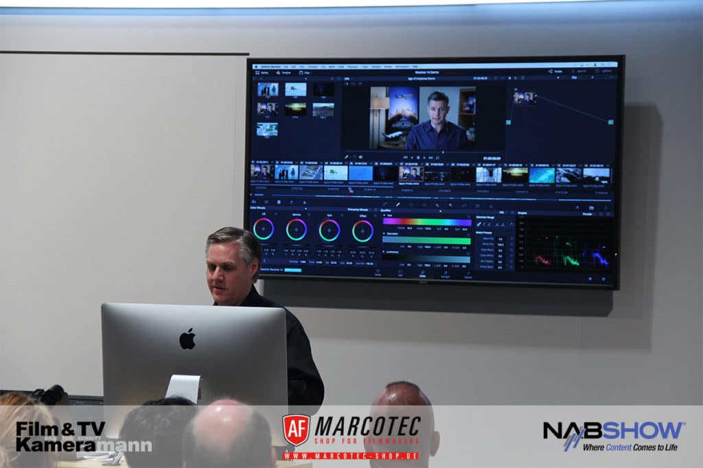 NAB 2017: Blackmagic Design CEO Grant Petty stellt die neuen Features in DaVinci Resolve 14 vor.