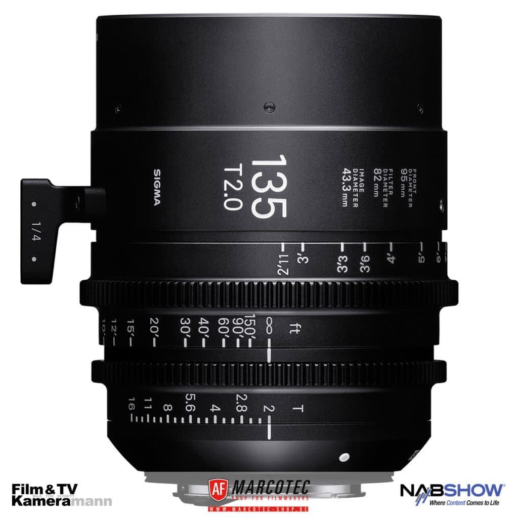 NAB 2017: Das neu vorgestellte Objektiv Sigma 135 T2.