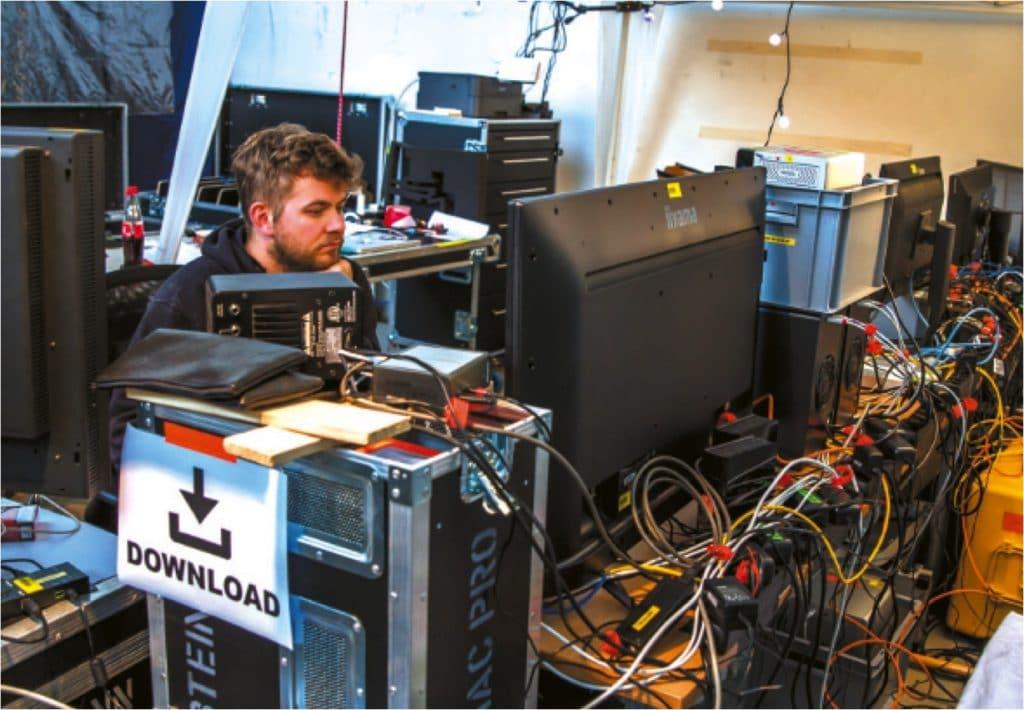 Schwerstarbeit beim Ingest: Hier wird die letzte Hürde genommen, bevor das Material sicher und mehrfach auf den Servern lagert.