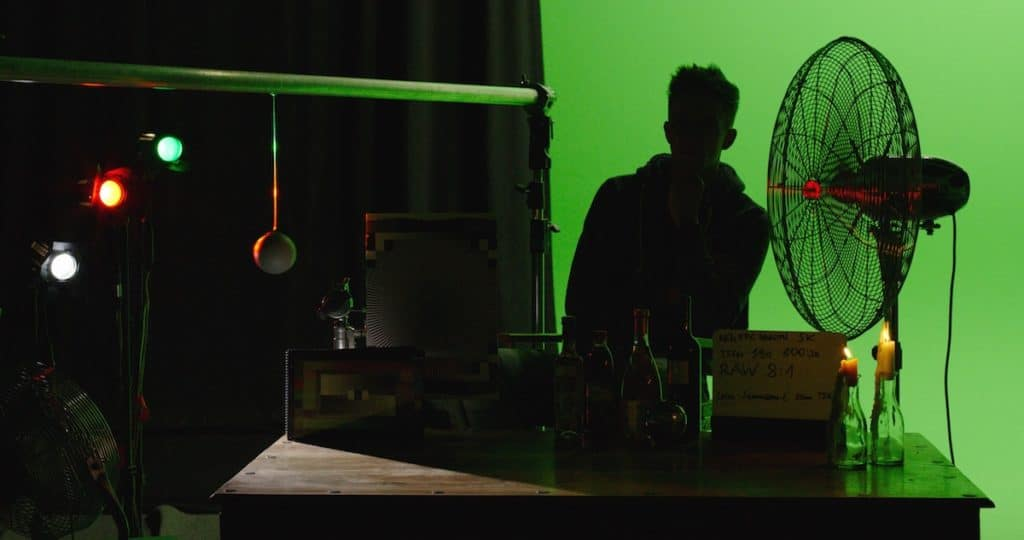Ein Screenshot aus der X-OCN-Testsituation, hier eine Low-Light-Aufnahme mit Ventilator