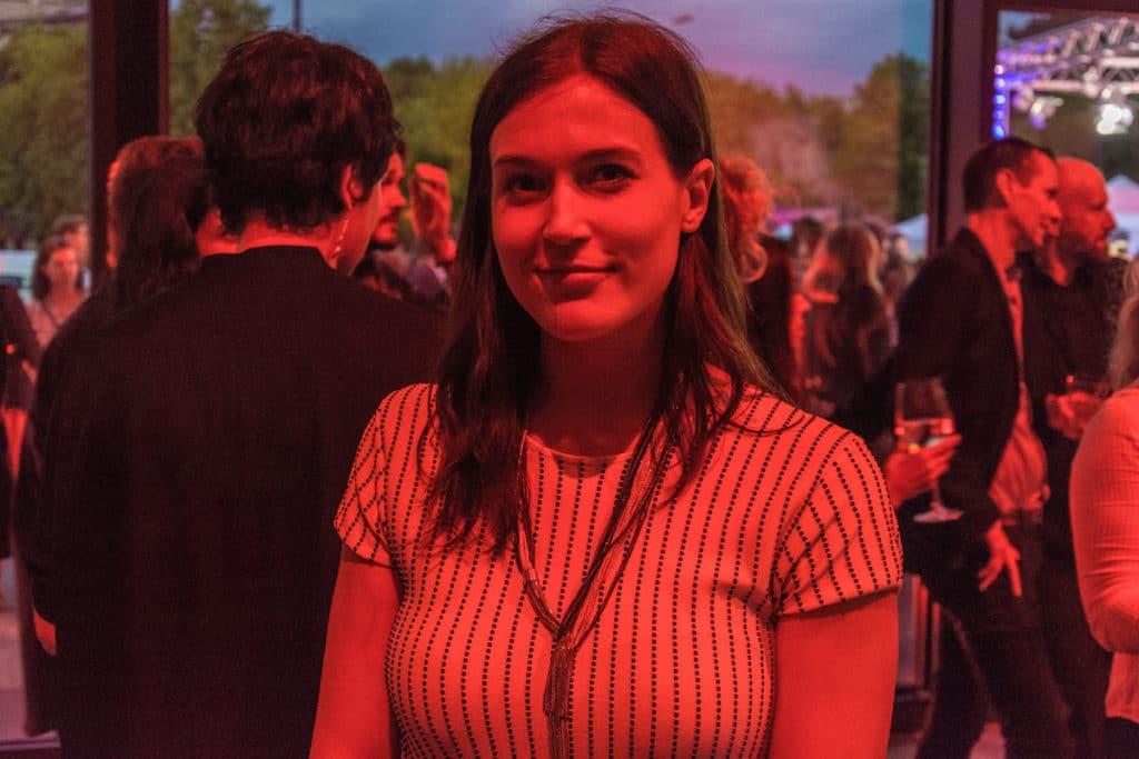 Kristina Schranz, Studentin an der HFF. Sie moderierte einen Teil des Abends.