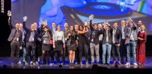 Die Sieger des Animago Awards 2017 am Abend der Preisverleihung in München.