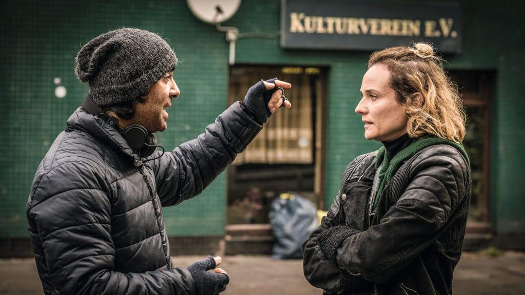 Das Milieu kennenlernen: Regisseur Fatih Akin und Diane Kruger.