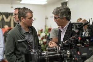 Matt Damon und Alexander Payne mit der ARRI ALEXA ST – aber ohne Phedon Papamichael.