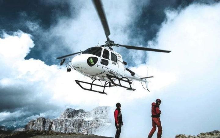 Helikopter-Einsatz am Berg: Das teuerste, aber flexibelste Transportmittel.