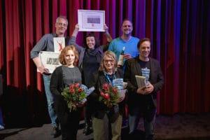 (Reihe unten, Jury:) Anne Fabini, Petra L. Schmitz, Rainer Frimmel