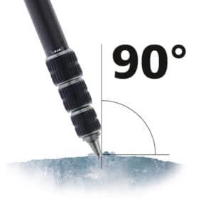 Die Spitzen bohren sich im 90-Grad-Winkel zum Untergrund hinein.