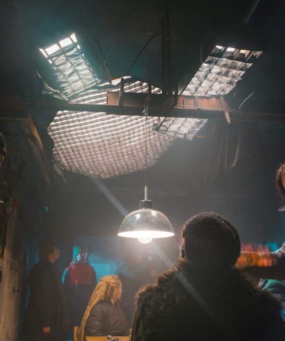 Die Beleuchtung im Bunker wurde durch Nebel noch intensiver.