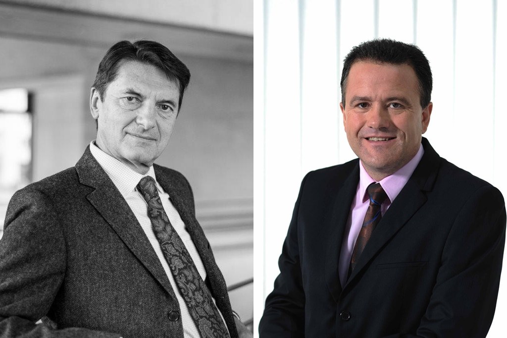 Franz Kraus (rechts) und Dr. Michael Neuhäuser.