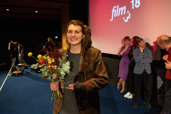 Yana Höhnerbach bei der Preisverleihung
