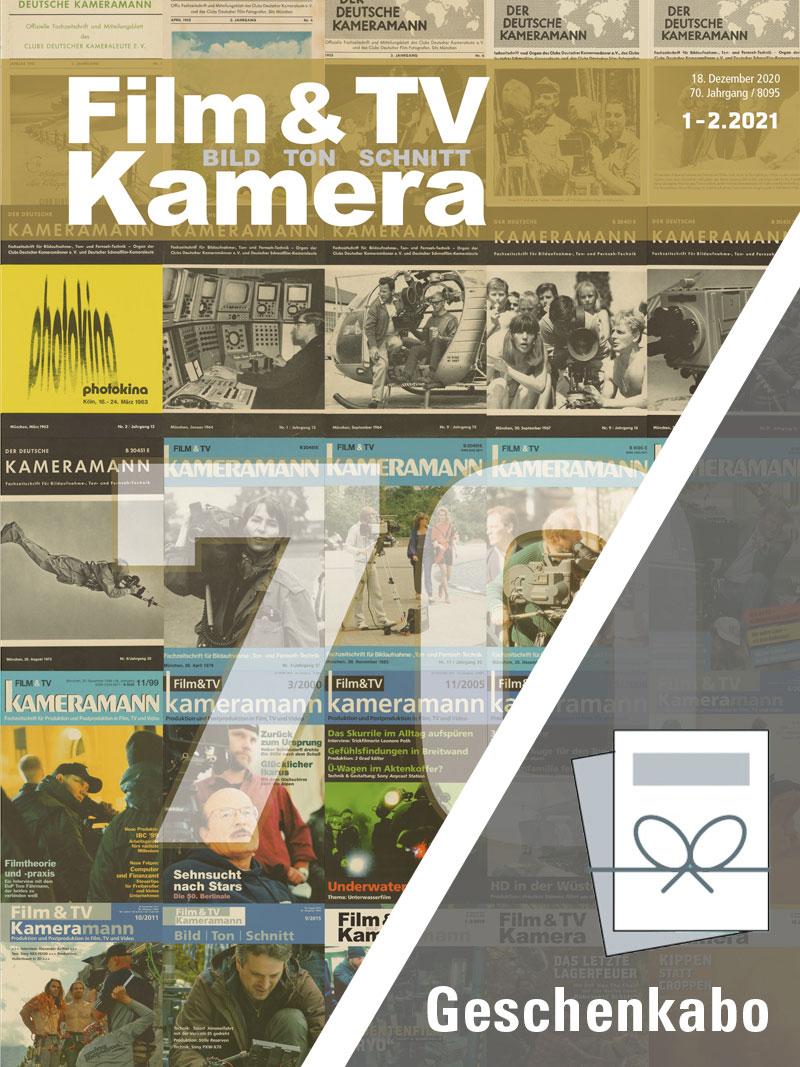 Produkt: Film & TV Kamera Geschenkabonnement Print