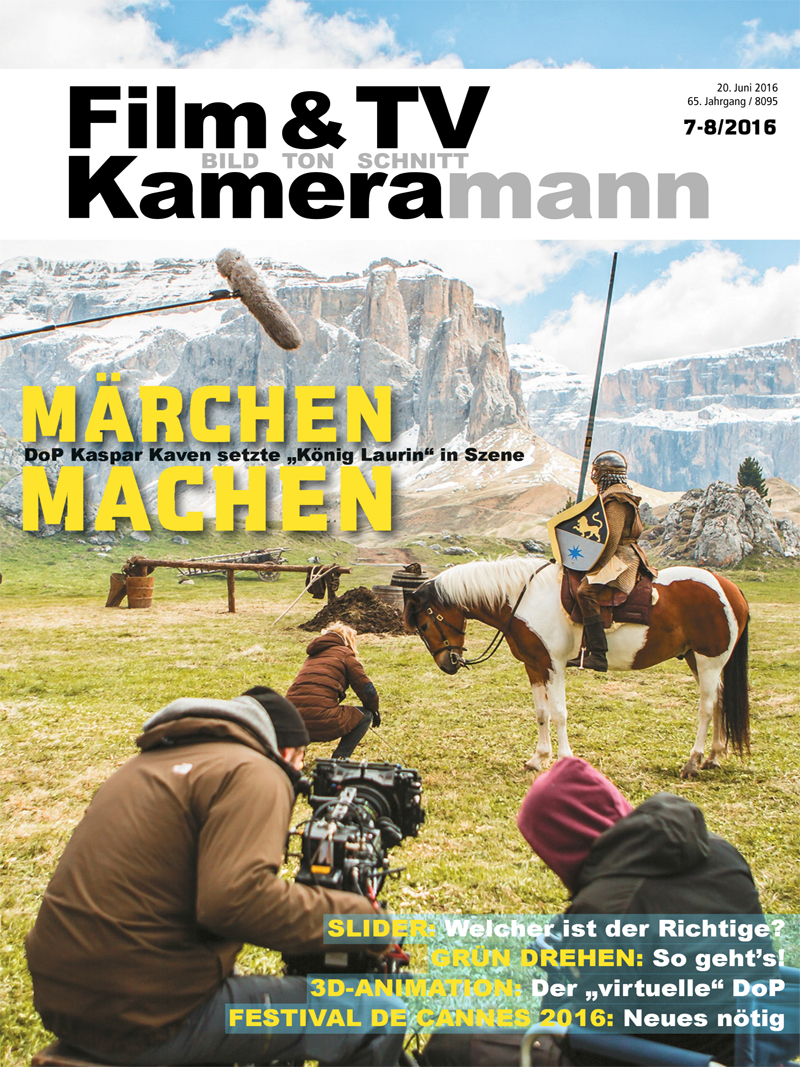 Produkt: Film & TV Kameramann Digital 07-08/2016