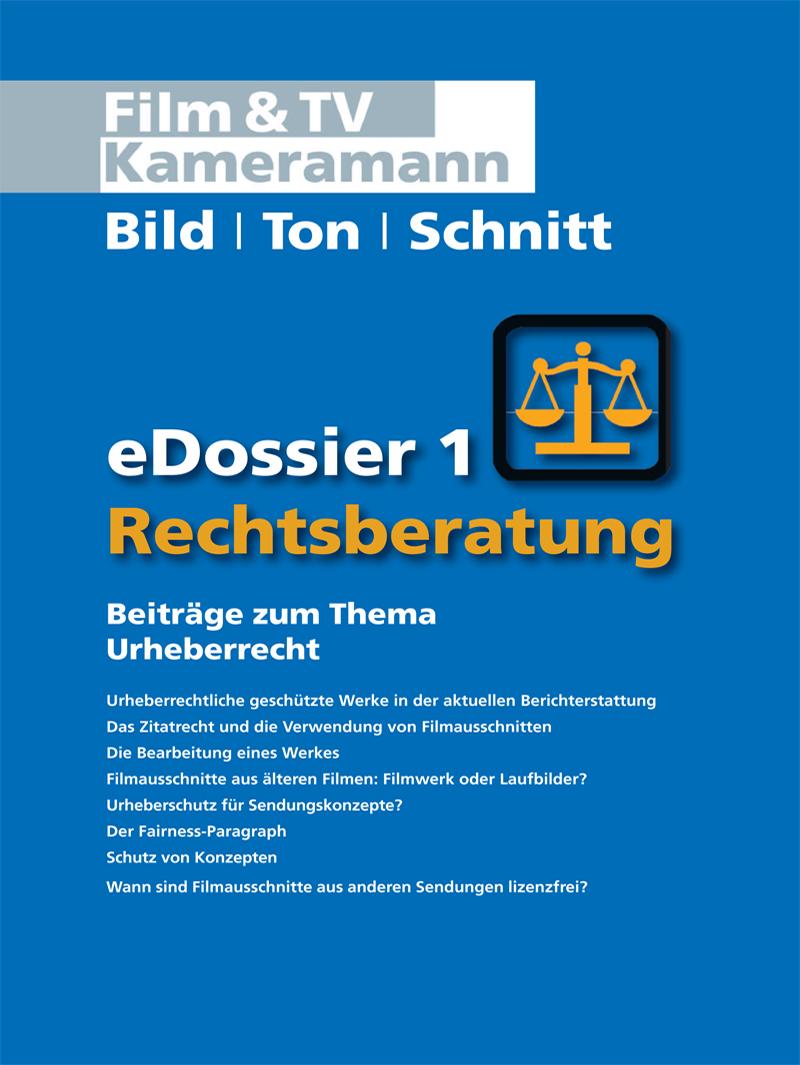 Produkt: Rechtsberatung eDossier 1: Beiträge zum Thema Urheberrecht