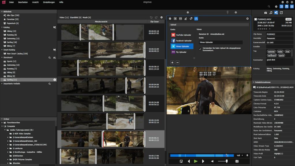 EDIUS 9 Screenshot von neuer Multicam-Funktion