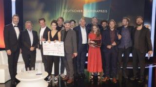 Preisträger, Moderator und Laudatoren des Deutschen Kamerapreises