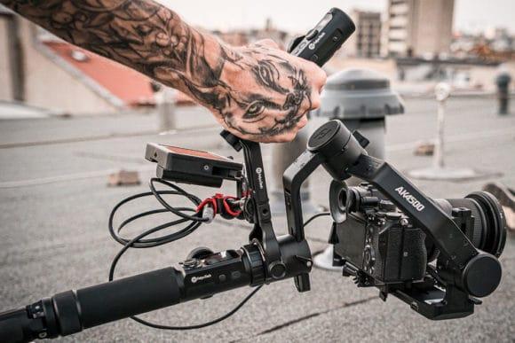 Feiyutech AK4500 Gimbal bei einem Testdreh